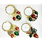 ShopKooky Special Candle Diya (Pack Of 12) | Specially Designed For Navratri Diwali Lighting Festivals And Many Happy Occasions | Best For Gifting Purpose And Most Suitable For Night Decorations | Designer Attractive And Stylish | Return Gift | Gifts Onli
