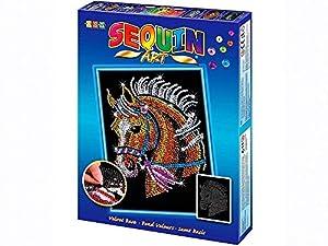 Sequin Art- Kit de Bricolaje para Niños, Caballo, CREA Bello Arte Colorido con Lentejuelas, (5013-1517)