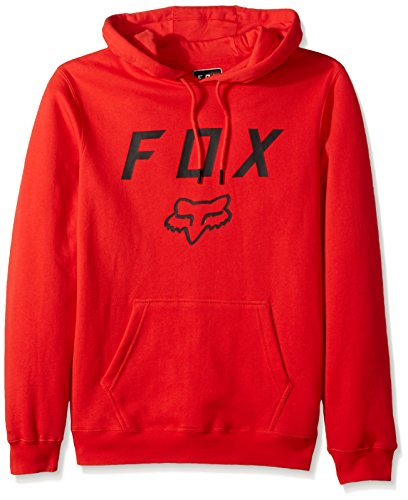 Fox Hoody Legacy Moth Heather Graphite Flame Red