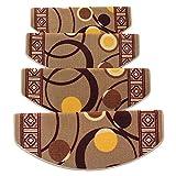 HAIPENG Treppenmatten Teppich Treppen Anti-Rutsch Selbstklebend Treter Pads Schritt Wendeltreppe Osmanen Zuhause, 4 Größen, 3 Farben (Farbe : A-65x24x3cm, größe : 5 pcs)