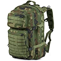 Nitehawk Military Army Patrol MOLLE Assault Pack Rucksack Backpack Tactical Combat Bag 40L Black, Camo, Olive