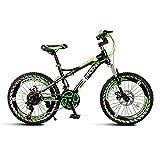 Paseo Bicicleta Portátil De Una Sola Velocidad para Niños Bicicleta De Montaña Bicicleta Plegable Bicicleta Unisex 18 Pulgadas Bicicleta Pequeña Rueda (Color : Green1, Size : 122 * 62 * 83cm)