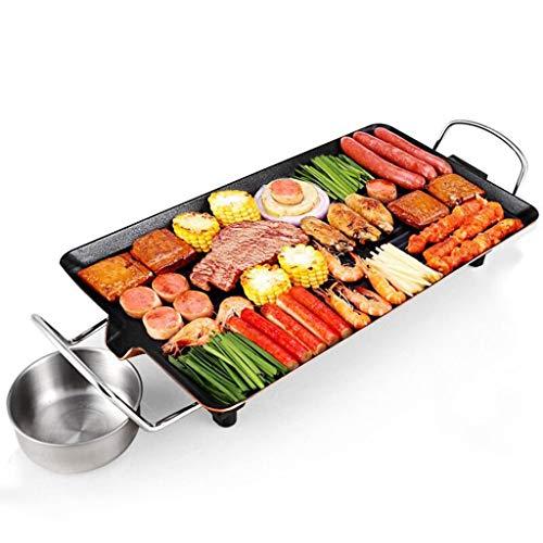 DSADDSD Elektrischer Grill, Haushalt Antihaft-Elektrische Backform, Rauchfreie Grill-Maschine, Eisen-Platte Grill-Fleisch-Pfanne,