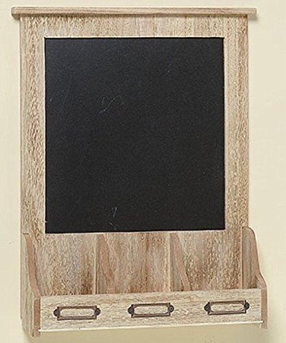 Kreidetafel mit Ablagefach Memotafel 30 cm x 41 cm Tafel zum Hängen Holzrahmen Fächer Wandtafel