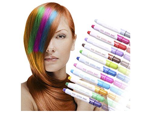 1 Set x 2 Farben Grün / dunkel Grün mit Glitzer Haarstift Haarfarb Haarkreide Färben Haartönung Kreide Farben Hair Chalks