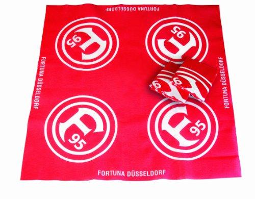 Brauns Fortuna Düsseldorf Mitteldecke 3er-set, rot, 23028