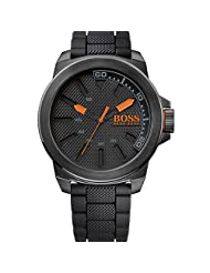 Hugo Boss Orange 1513004 50mm Ion Plated Stainless Steel Case Black Silicone Mineral Men's Watch