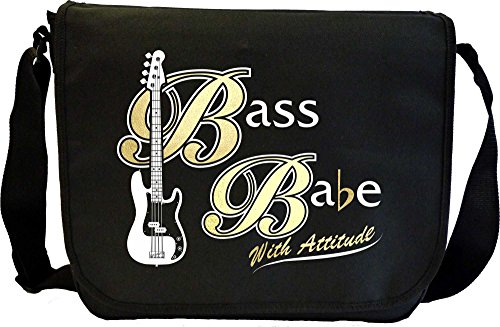 Bass Guitar Bass Babe Attitude 3 - Sheet Music Document Bag Musik Notentasche MusicaliTee