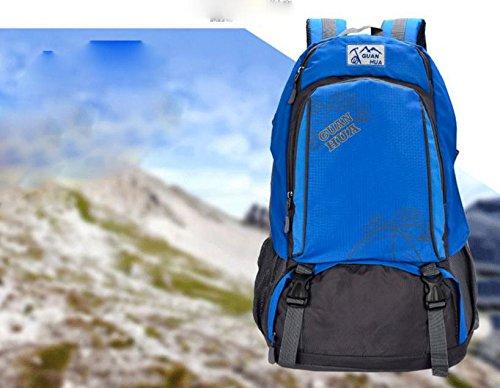 ROBAG Borse da viaggio 45L nuovo impermeabile traspirante all'aperto arrampicata borsa a spalla per uomini e donne, tempo libero , black blue