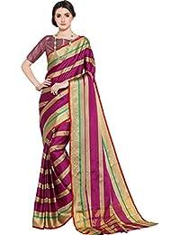 Ethnicjunction Khadi Saree With Blouse Piece (Ej1168-7004_Multi-Coloured_Free Size)