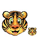 House of Quirk Tiger Printed Pvc Table Mat Set - 4 Placemats And 4 Coasters