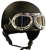 em Jagd - Motorrad Sturzhelm Retro Helm Halbschale Oldtimer Helm S