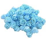 50x Demarkt Rosen Blütenköpfe Deko Blütenköpfe für Hochzeit Wohnzimmer 3-3.5cm Blau