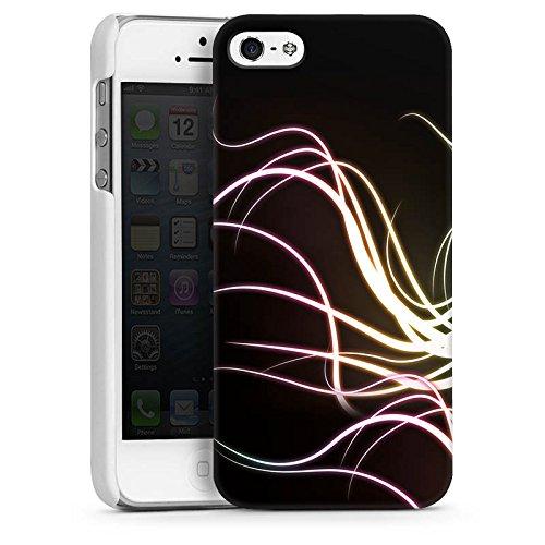 Apple iPhone 5s Housse Étui Protection Coque Tentacule Vrilles de lumière CasDur blanc
