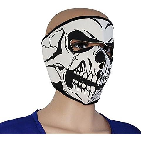 Fashion estilo gráfico cráneo asesino negro neopreno ajustable 2en 1reversible Full Face máscara motocicleta de esquí y snowboard máscara Headwear