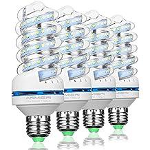 Bombillas LED E27, No Regulable, 20W (Equivalente a 200 vatios), Blanca Fria 6000K, 360 Degree Ángulo de haz, Bombillas LED de 1750 Lumens, AC 85-265 volts, 4-Pack