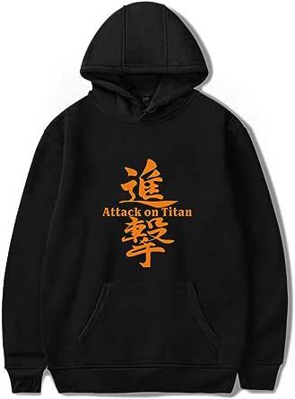 AMOMA Anime Attack On Titan Cosplay Hoodie Unisex Animation Manga Casual Logo Pullover Sweatshirt for Teens Men Women