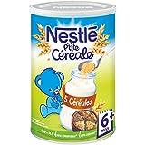 Nestlé Bébé P'tite Céréale 5 Céréales - Céréales Déshydratées dès 6 Mois - Boîte de 400g - Lot de 4