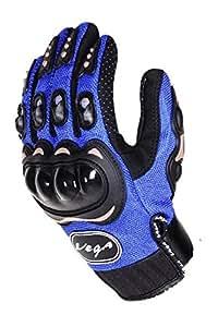 Vega MCS-01B Motorcycle Glove (Blue, XXL)
