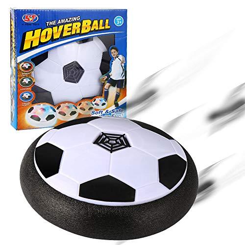 Parsion Air Power Fußball der super Hover Ball mit LED Beleuchtung für Kinder Haustiere, Training, Drinnen und Draußen, Schwarz