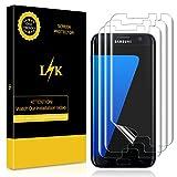 LK Galaxy S7 Edge Schutzfolie [3 Pack], Liquid Skin [Vollständige Abdeckung] [Blasenfreie] HD klar Flexible Folie for Samsung Galaxy S7 Edge Schutzfolie.