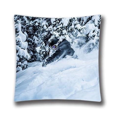 Zipper Design Copper Mountain Ski Throw Pillowcase, 18x18 inches Pillow Sham (Twin sides)