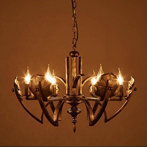 te Restaurant 6 Kronleuchter, Retro Hotel Villa Clubhaus Lampen E14 (Farbe : A) ()