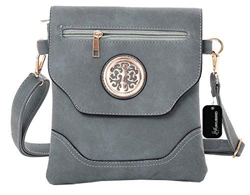 Kukubird Nicola Crossbody Bag borsa Casual tutti i giorni con sacchetto raccoglipolvere Kukubird Light Blue