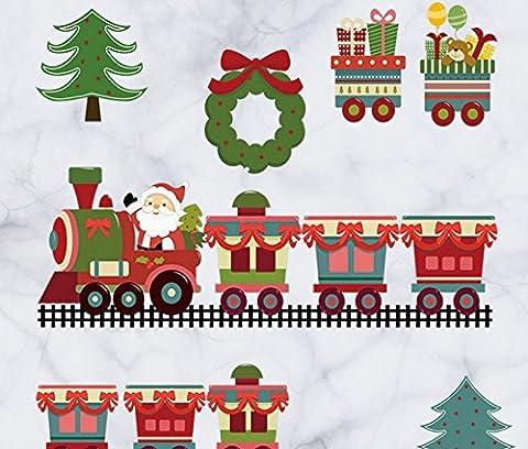 Skyllc® Autocollants décorés d'arbre de Noël Stickers muraux Cabinet Café