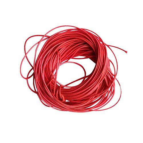 10M Nylonfaden Shamballa Nylon thread Macrame Kumihimo Rattail Cord Farbe Wachs Nylonschnur Seil Für DIY Armband Schmuck Machen Schwarz - Rot Rotes Shamballa Armband