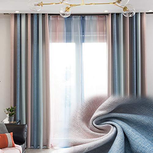 BAIVIT Regenbogen Farbverlaufsvorhang, Verdunkelungsvorhänge im modernen Stil, Fensterdekoration aus Polyester Gardinen Fenster, für Wohnzimmer, Schlafzimmer, Balkon,280x270cm -