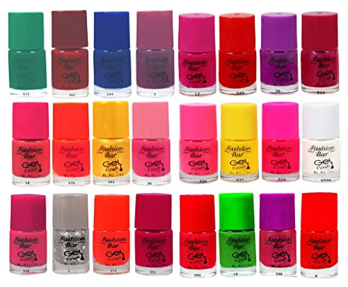 Fashion Bar Gel Effect Multicolor Big Nail Polish Combo Offer in Wholesale Rate