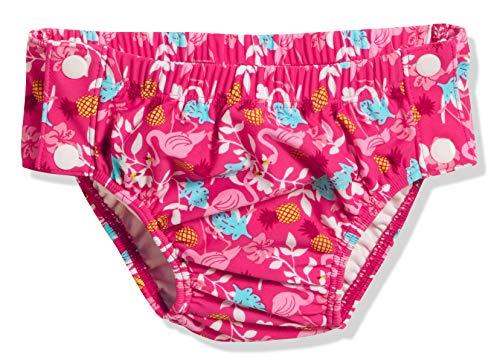 Playshoes Baby-Mädchen Uv-schutz Windelhose Flamingo Zum Knã¶pfen Schwimmwindel, Türkis (Türkis 15), 74 (Herstellergröße: 74/80)