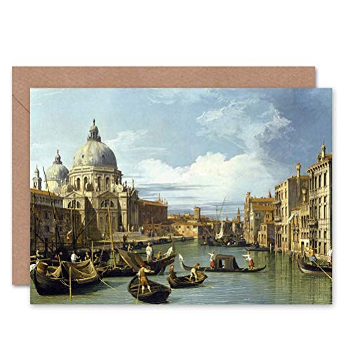 e620469a82250 Wee Blue Coo CANALETTO THE ENTRANCE TO GRAND CANAL VENICE PAINTING  GREETINGS CARD