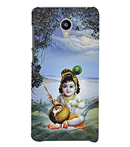 Aditya Krishna Kisna 3D Hard Polycarbonate Designer Back Case Cover for Meizu M3 Note