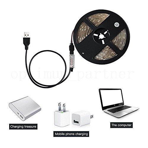LED Wasserdicht Led Strip für TV Beleuchtung Multifunktional USB LED Strip RGBW LED Fernseher Hintergrundbeleuchtung Fernseher, TV-Bildschirm Deko/Fahrrad Deko usw (50CM) ()