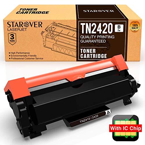 [con Chip] STAROVER TN 2420 TN2420 TN2410 Cartucho
