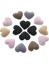 Accesorios creación botón tejido C 1/2Ur lunares para pegar apprêt joyas (10piezas)
