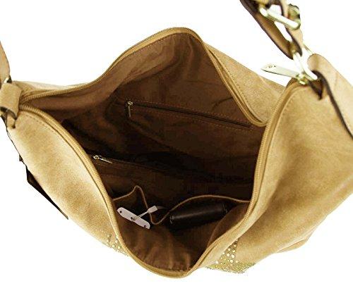Alexia, Borsa a tracolla donna cachi 40x34x14 cm (BxHxT) cachi
