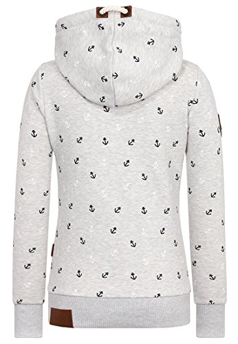 Naketano Female Hoody Guts over Fear Stone Grey Melange