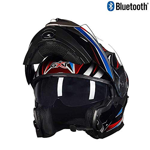 SJ-SPORT Erwachsener Offroad-Bluetooth-Helm, Clamshell-ATV-Helm und Bluetooth-Headset, DOT-zertifizierter Outdoor-Reitschutzhelm,XL Bluetooth-headset Clamshell