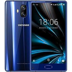 """Smartphone Libre, DOOGEE MIX LITE Moviles Libres Baratos - 5.2"""" HD IPS - MT6737 4G Android 7.0 Smartphones - 13.0MP+13.0MP Cámara - 2GB RAM+16GB ROM - 3080mAh - Huella Dactilar - Bluetooth - (Azul)"""
