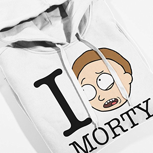Rick And Morty I Love Morty Women's Hooded Sweatshirt white