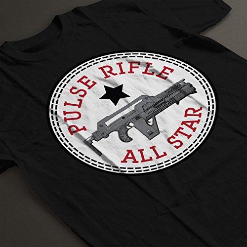 Pulse Rifle Alien All Star Converse Logo Women's T-Shirt Black