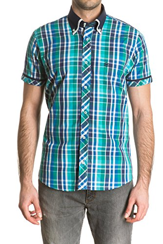di-prego-mens-short-sleeve-green-plaid-shirt-and-navy-blue-collar