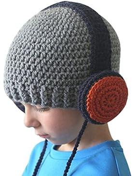 YiLianDa Unisex Bambino Uncinetto Maglia Cappello Inverno Caldo Lavorato A Maglia Cappello