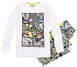 Tortues Ninja Pyjama Long Enfant Garçon Blanc/Gris Foncé DE 6 à 12ans (8 Ans)