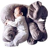 DearJoy Elephant Pillow for Babies (Grey)
