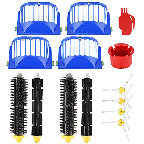 Isincer Replacement Accessories for iRobot Roomba 600 Series 605 615 616 620 621 630 635 650 652 660 665 680 690 695 Replacement Brushes and Filter with Screws for Vacuum Cleaner Robot