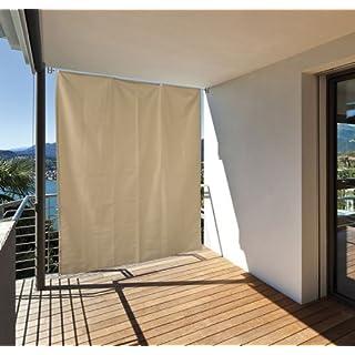 Home & Garden 301050114-HE Balkon Sicht- und Sonnenschutz vertikal 140x230 creme